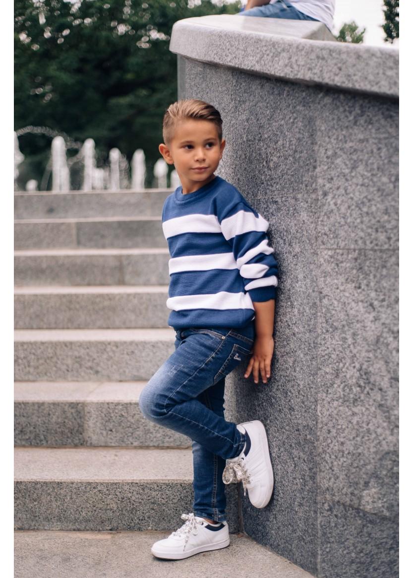 Джемпер Лукас, джинсовый