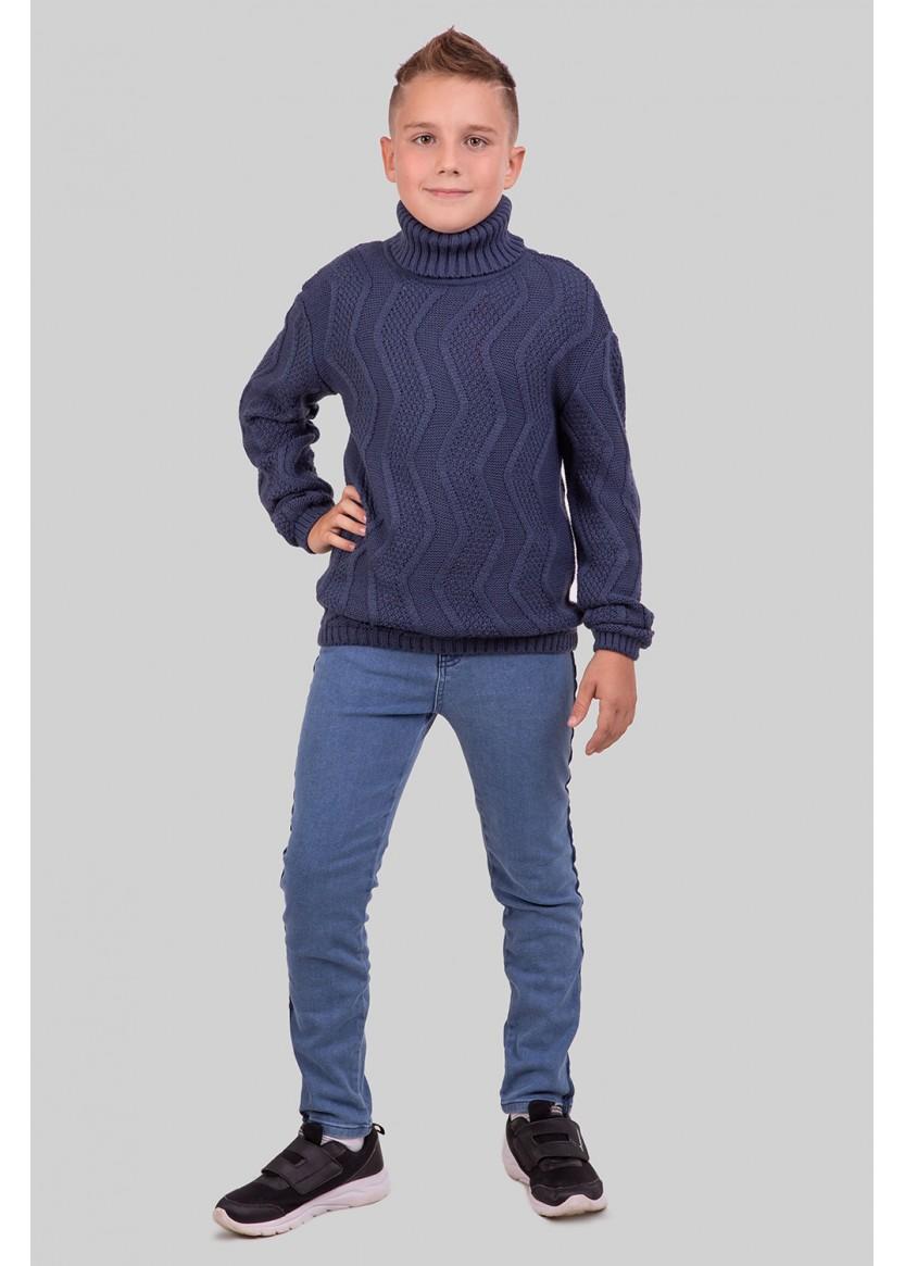 Свитер Стюарт, джинсовый