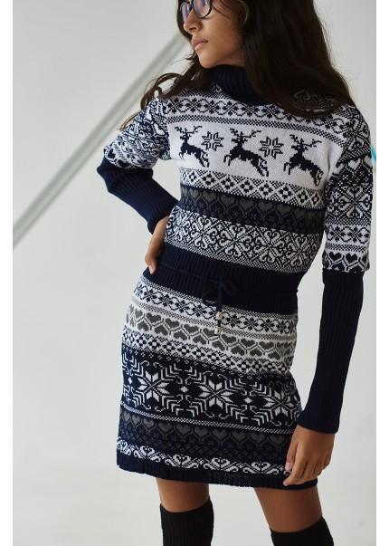 Платье Лапландия, синий