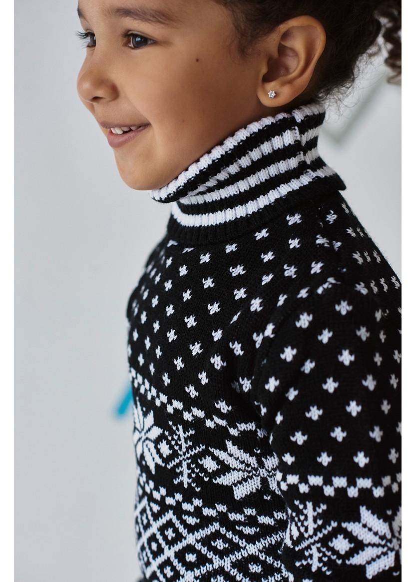 Туника Снежинка, черный