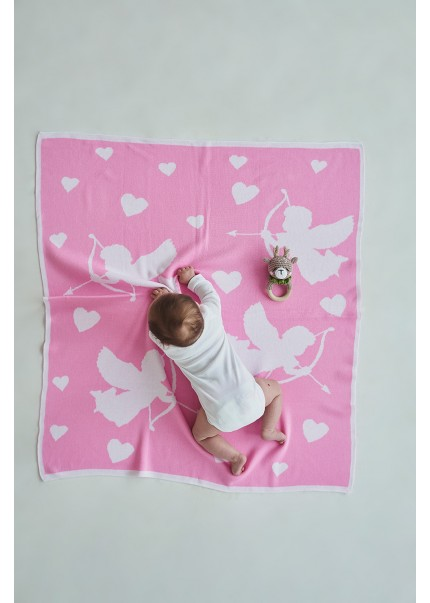 Плед Купидон, розовый