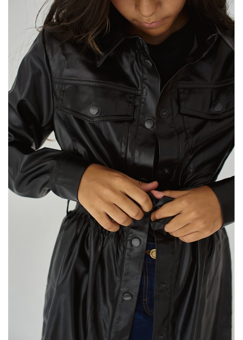 Платье-рубашка Мартина, черный