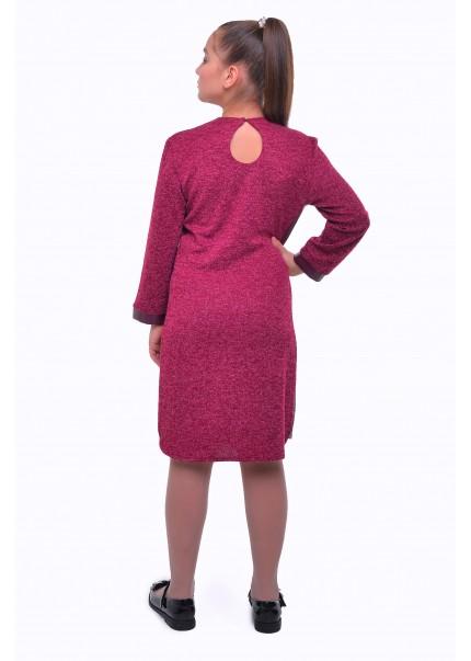 Платье Бромелия, бордовый