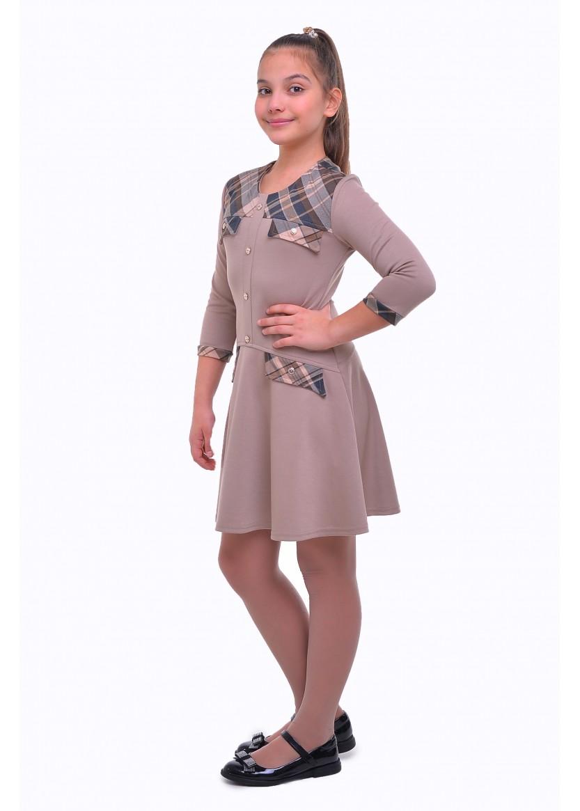 Платье Люси, бежевый