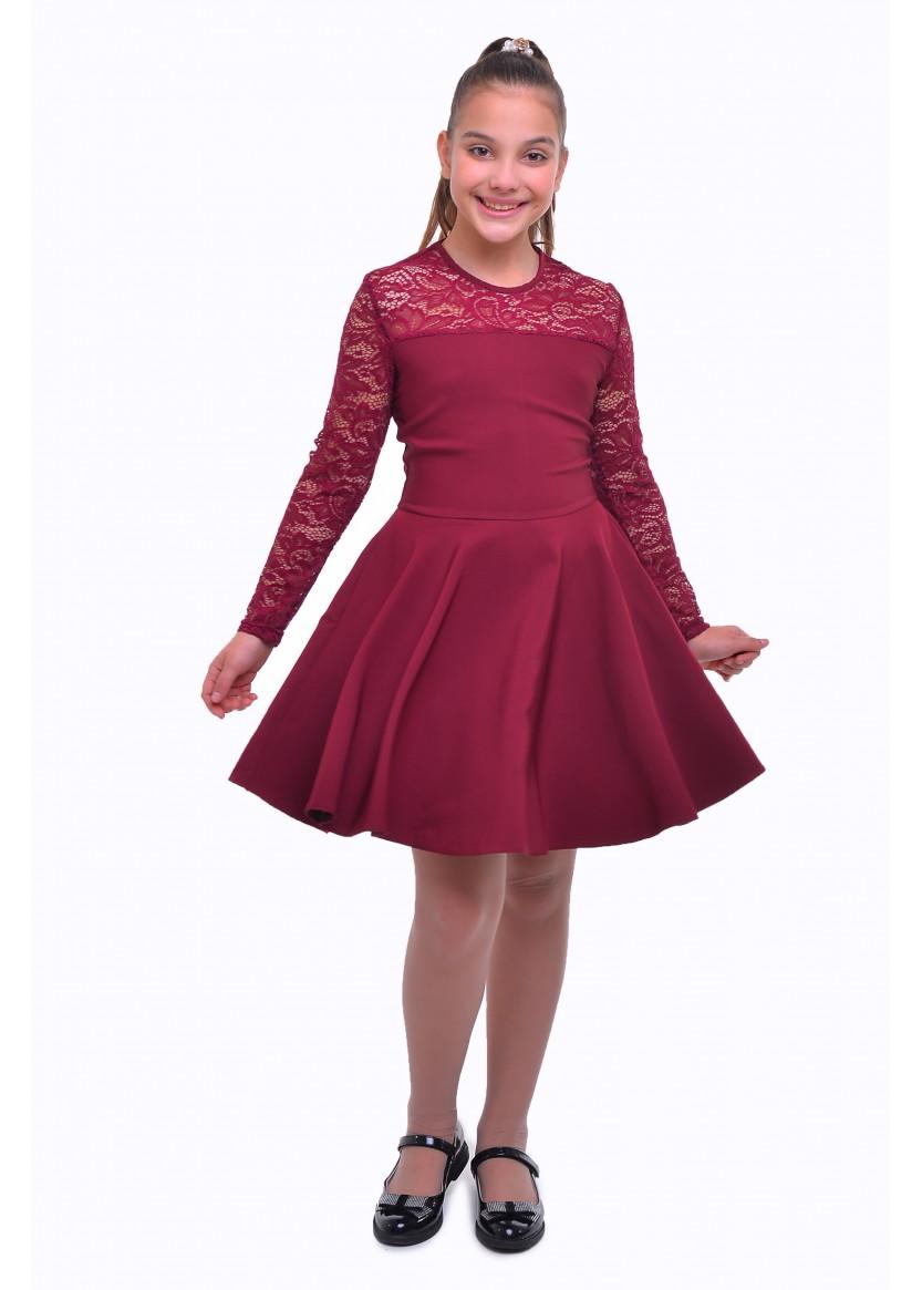 Платье Венера, бордовый