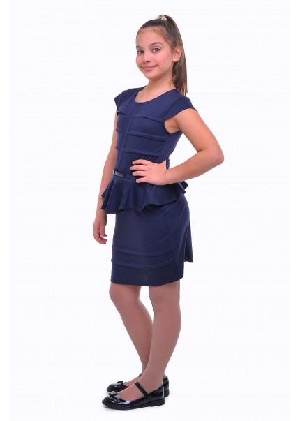 Платье Кокетка, синий