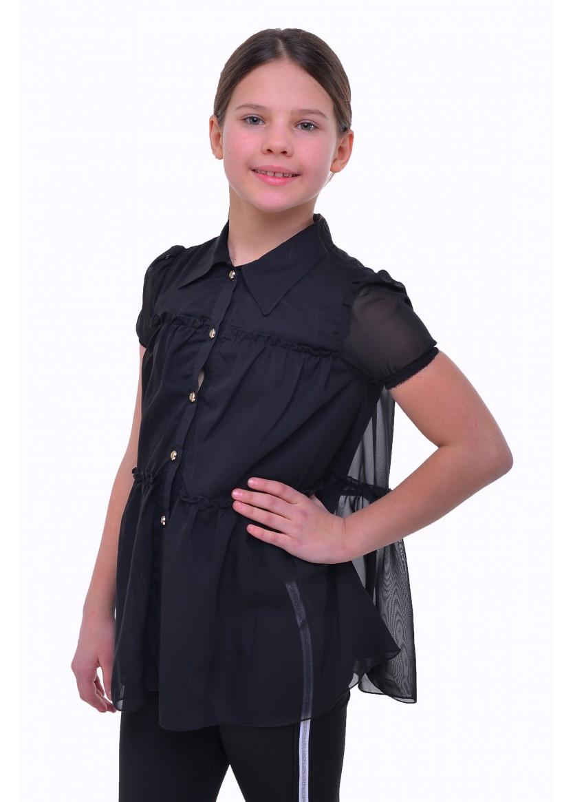 Блуза Разлетайка, черный
