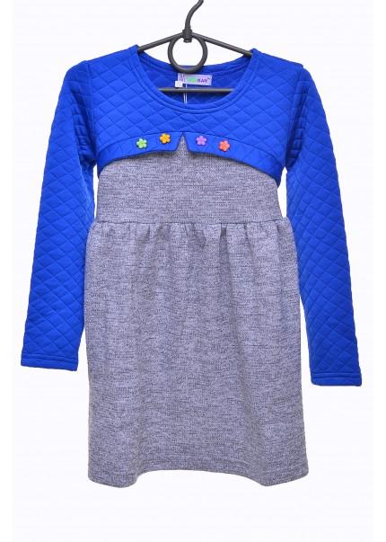 Платье Василёк, синий