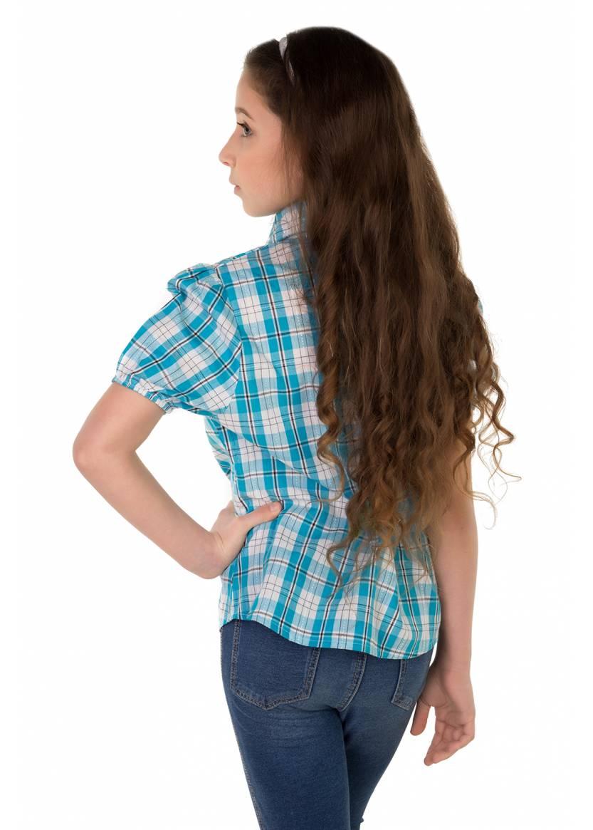 Рубашка Кантри, бирюзовый