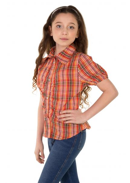 Рубашка Кантри, оранжевый